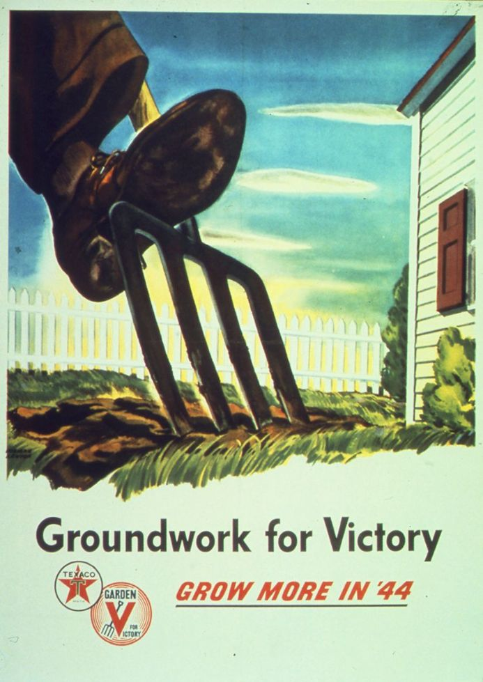 Groundwork For Victory Grow More In '44. Print/Poster (4911)